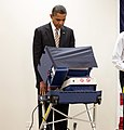 Barack Obama votes in the 2012 election (cropped).jpg