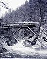 Barlangliget üdülőhely (ekkor Szepesbélához tartozott), Landoki-híd a Fehér-patak felett. Fortepan 86833.jpg
