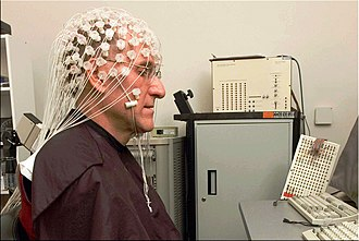 Buddhism and psychology - Buddhist monk Barry Kerzin participating in neuropsychology meditation research with EEG.