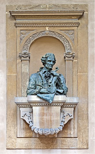 Giuseppe Tartini - Monument in the Basilica of St Anthony in Padua.
