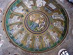 Battistero degli ariani, int, mosaico della cupola 01.JPG