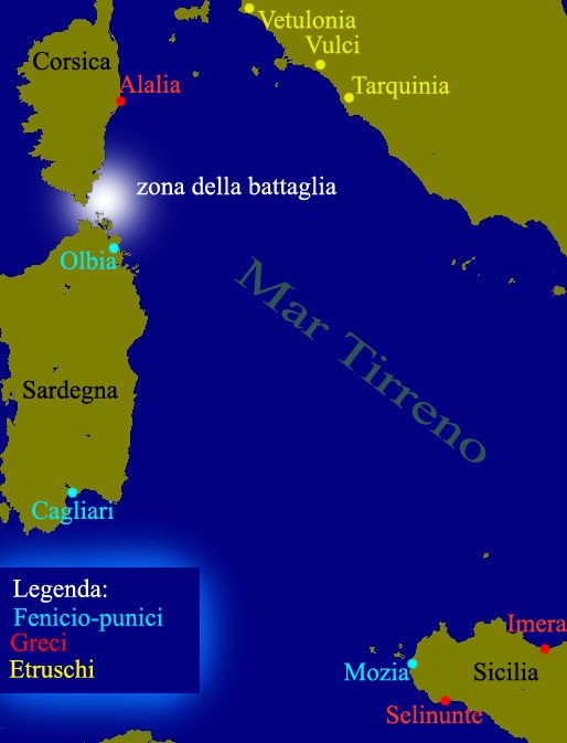 Battle of Alalia map