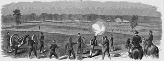 Battle of Champion Hill - Battle of Champion Hill sketched by Theodore R. Davis