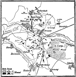 Map of Battle of Wissembourg