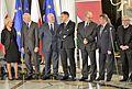 Beata Tokaj i członkowie Państwowej Komisji Wyborczej Wręczenie zaświadczeń o wyborze 2015.JPG