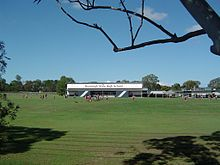 Sports oval and school buildings