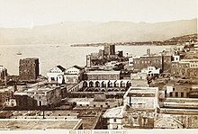 Buildings on the Beirut waterfront, winter of 1868/1869.