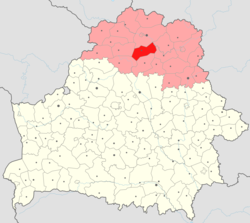 Location of Ushachy District