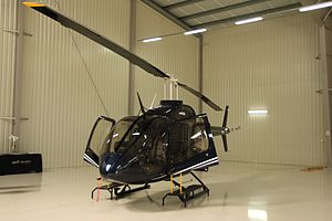 Bell 505 Jet Ranger X - Bell 505 Jet Ranger X helicopter mockup during presentation in Konstancin Jeziorna near Warsaw, Poland