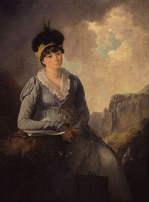 Julius Caesar Ibbetson - An 1803 portrait of Ibbetson's second wife Bella by Ibbetson himself