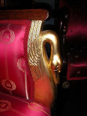 Pierre-Antoine Bellangé - A gilded Bellangé swan motif