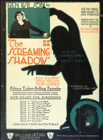 The Screaming Shadow - Poster for film serial