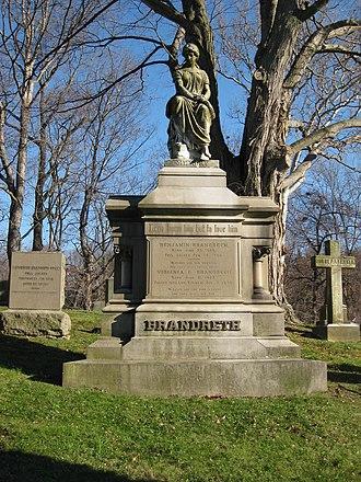 Benjamin Brandreth - Grave marker of Benjamin and Virginia Brandreth at the Dale Cemetery in Ossining, NY as it appeared in November, 2008
