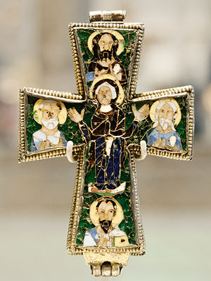 Byzantine enamel - Beresford Hope Cross - circa 9th century
