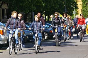 Transport in Berlin - Cyclists in  Berlin
