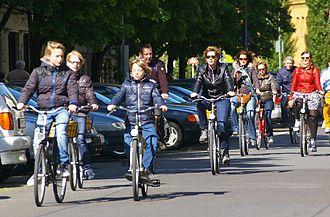 Transport in Berlin - Cyclists in Berlin