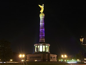 'Victory column' in Berlin during the 'Festival of Lights'