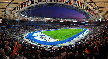 Panoramic view of the olympic stadium of Berli...