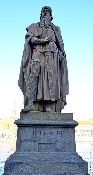Berthold II, Duke of Carinthia - 19th century statue of Berthold in Constance