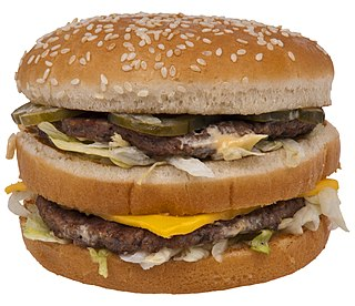 Big Mac a hamburger sold by McDonalds