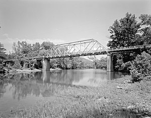 National Register of Historic Places listings in Johnson County, Arkansas - Image: Big Piney Creek Bridge