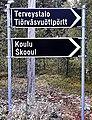 Bilingual road sign in Sevettijärvi.jpg