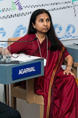 Bina Agarwal - Bina Agarwal at the World Economic Forum on India 2012