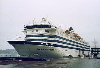 Birka Line - Birka's first newbuilding MS Birka Princess in her original appearance, photographed in Mariehamn.