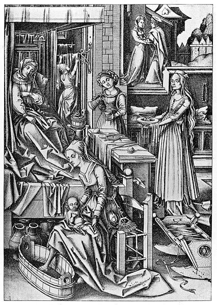 File:Birth of the Virgin, by Von Mekenem Wellcome M0013498.jpg