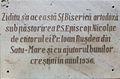 Biserica de lemn din Livada Mica placa comemorativă.jpg
