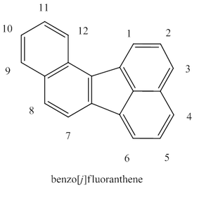 Benzo(j)fluoranthene - Figure 1. BjF with numbered carbon atoms