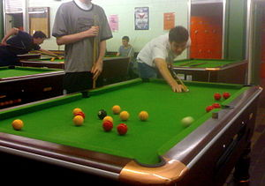 Blackball (pool) - Image: Blackball kick shot