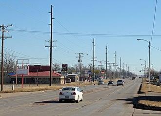 Blackwell, Oklahoma - Looking east along West Doolin Avenue
