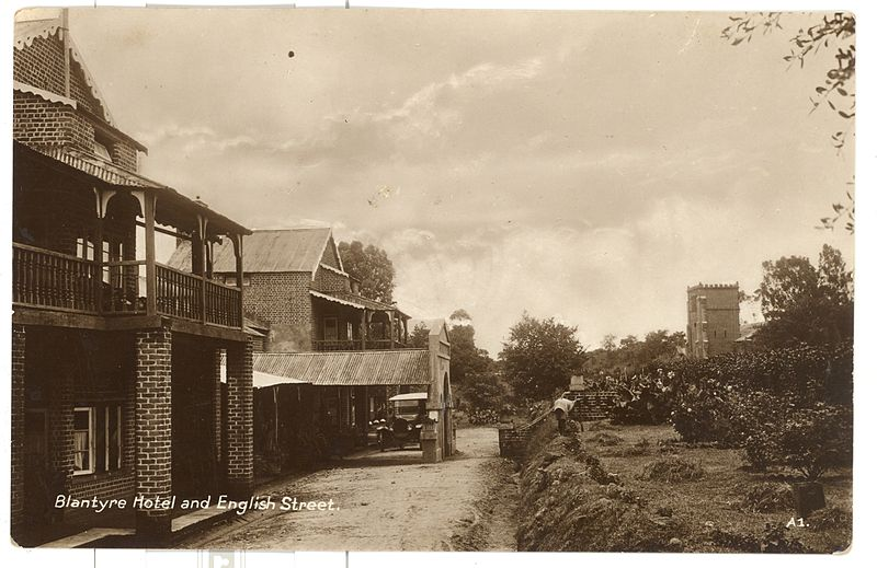 File:Blantyre Hotel and English Street, old Malawi.jpg
