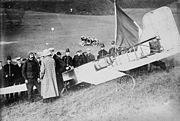 Bleriot and aeroplane