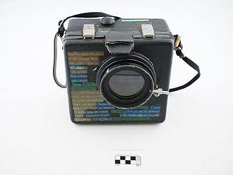 Sound blimp - Image: Blimp utilitzat per Frederic Gómez Grau amb títols de films