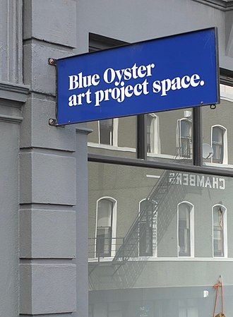Blue Oyster Art Project Space - Image: Blue Oyster sign