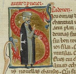Cadenet (troubadour) - Another chansonnier portraying Cadenet as an old man and a Hospitaller