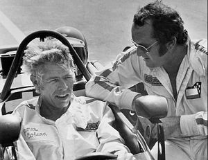 James Coburn - Bob Bondurant teaching Coburn in 1972