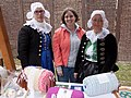 Bobbin lace makers and an ethnographer at the Myjava-Festival.jpg