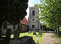 Bobbingworth, Essex, England - St Germain's Church exterior tower from the east.JPG