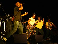 Bongo Maffin perform onstage in Vienna in 2008