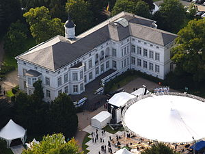 Palais Schaumburg - Aerial view of Palais Schaumburg