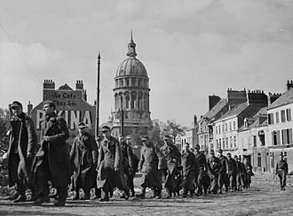 Operation Wellhit - German prisoners marching through Boulogne shortly after its capture, September 22, 1944