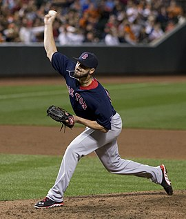 Brandon Workman wearing the Friday Red Sox road uniforms. 94c0ac5fcae