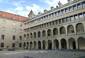 Bratislava Castle - The palace courtyard (before reconstruction)