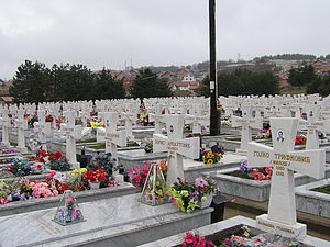 Kravica attack (1993) - A Serbian cemetery of the civil victims of the war.