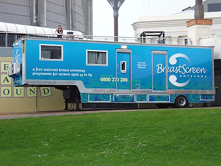 A mobile breast cancer screening unit in New Zealand BreastScreen Aotearoa.JPG