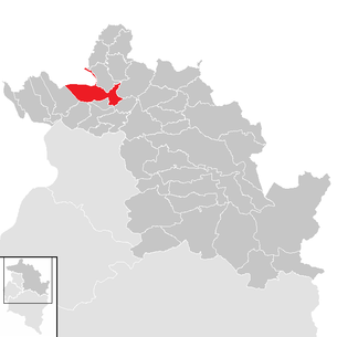 Location of the municipality of Bregenz in the Bregenz district (clickable map)