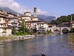 The river Brembo at San Giovanni Bianco.